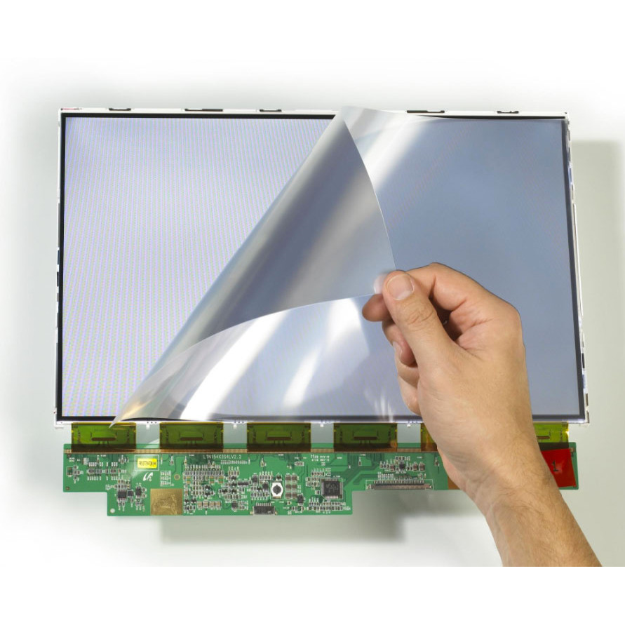 Rugged F110 tablet integrated optically bonded NVIS filter showing TFT display and NVIS filter being applied
