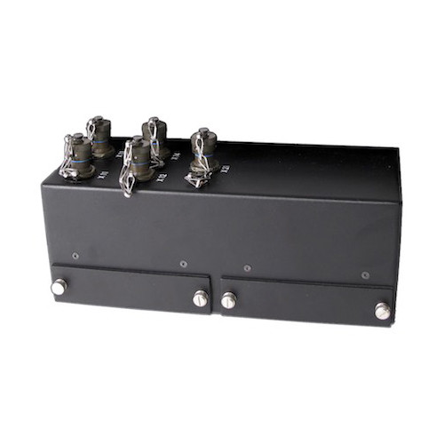 F110 tablet ruggedized all metal port replicator with MIL-D-38999 IO connectors and covered USB expansion ports
